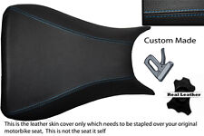 blue stitch 03-05 CUSTOM FITS YAMAHA 600 YZF R6 REAL LEATHER SEAT COVER