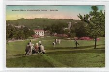 BELMONT MANOR CHAMPIONSHIP GOLF COURSE: Bermuda postcard sent to USA (C24106)