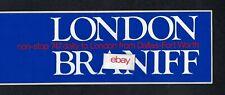 BRANIFF INTERNATIONAL AIRWAYS BOEING 747 JETS TO LONDON FROM DALLAS STICKER