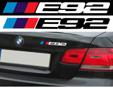 LOGO E92 POUR BMW MOTORSPORT SPORT RACING 18cm AUTOCOLLANT STICKER BA225