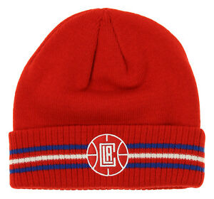 Adidas NBA Youth Boys (8-20) Los Angeles Clippers Cuffed Knit Hat, Red