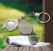8X Pocket Folding Magnifier Reading Magnifying Glass Loupe With Key Chain