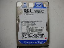 "WD Scorpio Blue 250gb WD2500BEVT-35ZCT0 2061-701499-500 AF 2,5"" SATA"