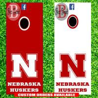 Nebraska Cornhole Set of 6 Vinyl Decal Stickers Cornhuskers Corn Hole Huskers
