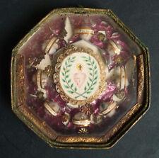 Reliquaire avec reliques ossibus de Saint Alacoque Marc 18e siècle reliquary