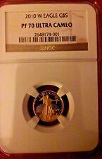 2010 W NGC PR 70 1/10 oz Proof Gold American Eagle Coin $5 Ultra Cameo PR70 coin