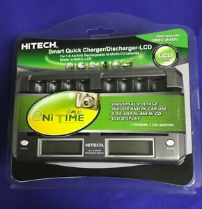 5 of AA/AAA(1~8)Smart Charger/Disc-LCD(UL)For Duracell, Energizer...Rechargeable