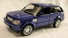 "RMZ City - 5"" Scale Model Land Rover Range Rover Sport Blue (BBUF555007BL)"