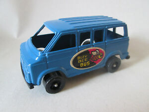 "1978 Tootsietoy 3.5"" Blue Dodge Van Buzy Bee Bus - USA (MINT)"