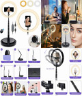 SHANSHUI 11.4'' Selfie Ring Light with Stand and Phone Relfie ring light