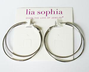 Lia Sophia Jewelry Top Notch Earrings in Silver RV$36