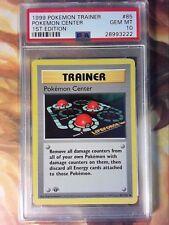 1999 Pokemon Game 85 Pokemon Center 1st Edition Shadowless PSA 10 Gem Mint Card