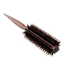 New Portable Curly Hair Comb Round Brush Wood Handle Bristle Anti-static