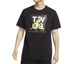 Air Jordan T Shirt Mens 2XL Authentic Nike MJ Legacy 2 Short Sleeve Tee Black