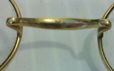 Very Old Antique Vintage Eye Glasses with Makers Mark ? on back of Bridge