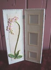 """""""RAJ""""  RESIN 2 PANEL TABLE TOP PICTURE FRAME: HOLDS 3 PHOTOS"""