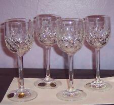 "Small Bohemia Czech Crystal 24% Wine Glasses Stemmed 5 1/2"" Tall Cut Glass VGUC"