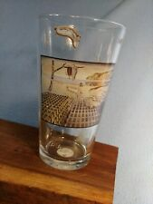 Vintage Salvadore Dali Glass signed Salvadore Dali Museum, St Petersburg Fl 16oz