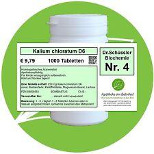 Schüßler - Salz 4 Kalium chloratum  D6 1000 Tabletten PZN 08000554