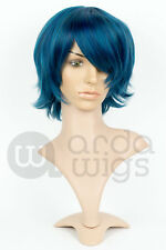 Heat-resistant Sailor Mercury Sailor Moon Natural Thick Layers Bangs Cosplay Wig