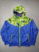 Nike Zip Up Windbreaker Jacket Hooded Track Zip up women size small