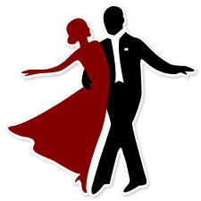"LOVE Ballroom Dancing Dance bumper sticker 4"" x 4"""