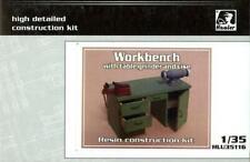 Hauler Models 1/35 WORK BENCH WITH TABLE GRINDER & VISE Resin Set