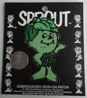 Little Sprout Mascot / Jolly Green Giant Embroidered Iron On Patch - Vintage