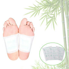 100 Detox Foot Patch Bamboo Pads Patches With Adhersive Sheet Combats Fatigue