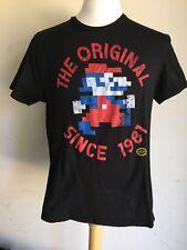 """SUPER MARIO 8 Bit """"The Original Since 1981"""" Authentic Nintendo T-Shirt Medium"""