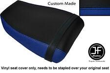 BLACK R BLUE VINYL CUSTOM FOR KAWASAKI NINJA ZXR 400 91-03 REAR SEAT COVER ONLY