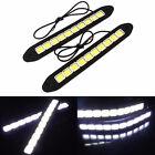 2X 20W LED Daytime Running WHITE Light DRL COB Strip Lamp Fog Car 12V Waterproof