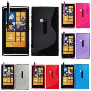 Schutzhülle für Nokia Lumia 920 TPU Silikon Flip Case Cover Etui Schale