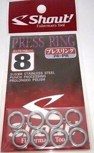 Shout Fisherman's Fishing Tool Press Ring Jigging Assist Size 8mm 74-PR