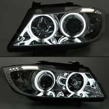 FAROS AV ANGEL EYES CROMO CCFL BMW SERIE 3 E90 2005-2009 BERLINA 318D 318I 320