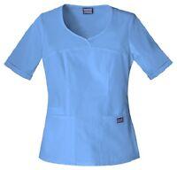 Cherokee Workwear Scrubs Women's V Neck Scrub Top 4746 Ceil Blue CIEW