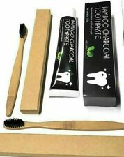 Bamboo Charcoal Toothpaste Charcoal teeth whitening +2 Bamboo Toothbrush