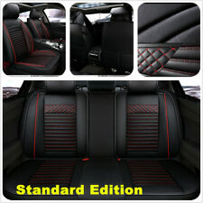 Car Front/Rear Seat Cover PU Leather Universal Seat Cushion Luxury Protector