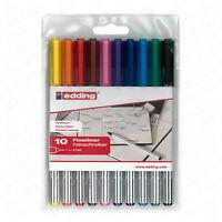 Edding 89 Fineliner Drawing Art Pen Assorted Wallet of 10
