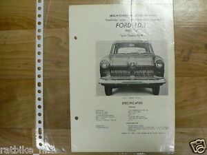 FO05-FORD  (D) TYPE TAUNUS 12M 1955-1956 -TECHNICAL INF0 GERMANY  COACH CAR