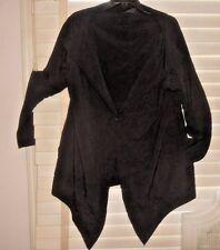 Moyuru Japan ~ Art to Wear ~ Unique Black Car Coat Jacket ~ S