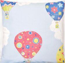 Air Balloons Cushion Cover Liberty London Fabric Children's Blue Printed Cotton