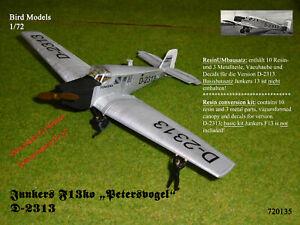 "Junkers F13 ""Petersvogel""    1/72 Bird Models ResinUMbausatz / Resin conversion"