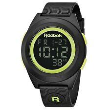 Reebok Men's Di-R Block Party Digital Watch Black with Yellow
