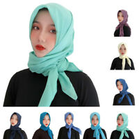 """New Women's Voile Square Scarf Head Wrap Shawl Large Hijab Solid Color 39"""" *39"""""""