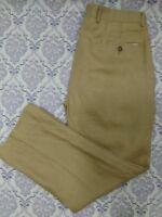 Michael Kors Mens Linen Pants Classic Fit Size 33 Beige Flat Front Straight Leg
