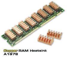 DISSIPATORI RAM quadrate rettangolari BGa 10x22 RAME adesivo ddr dimm A1978 ali