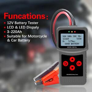 12v Car Moto Battery Tester Digital AGM EFB Gel Load Battery System AnalyzeFRFR