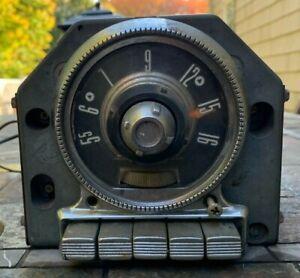 1955 Original Ford OEM AM Push Button Radio Fairlane + Unrestored 5MT 8 14 AMP