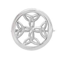 Keltisch TRINITY Knoten rund Sterling Silber Brosche